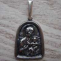 Серебряная подвеска-ладанка Богородица, 6 грамм