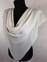 Шифоновый однотонный бежевый платок (цв.61)