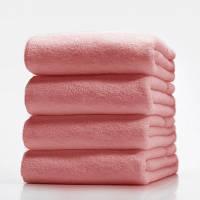 Махровые полотенца без бордюра 50х90; плотность: 400 г/м светло-розовый