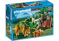 Конструктор Playmobil 5234 Трицератопс с детенышем и ученый