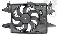 Вентилятор радiатора Fiat Doblo 1,4 8V (2005-2016) - 1,6 Bipower (2008-2010) з кондицiонером
