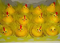 Курочка в гнезде желтая 6,5 см