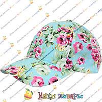 Яркие летние кепки с цветами для девочек (объём 54 см) (vti110)