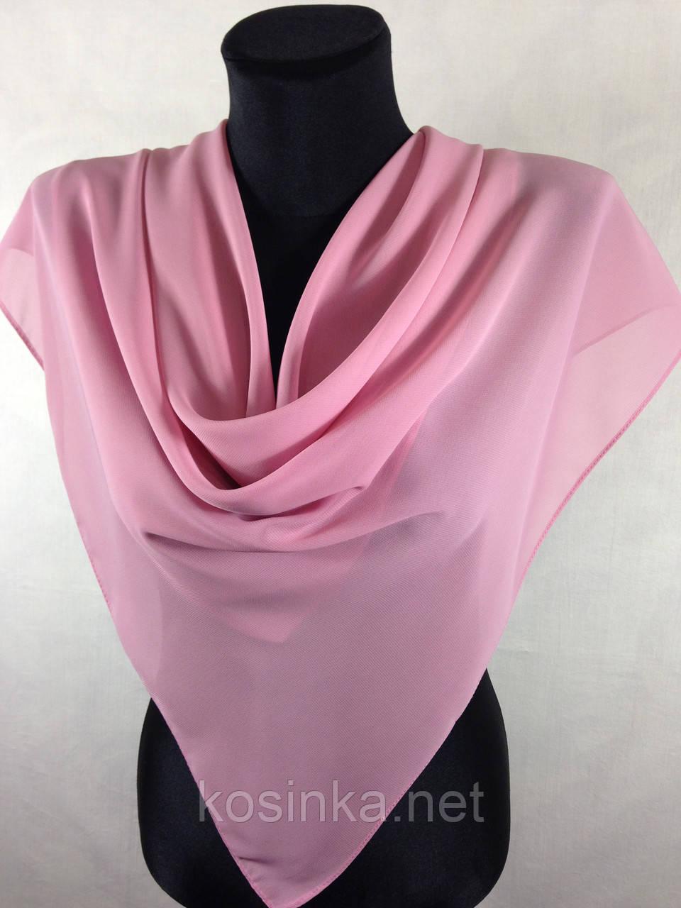 Средний шифоновый платок в розовом цвете (цв.44)