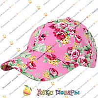 Цветные кепки с цветами для девочек (объём 56 см) (vti111)