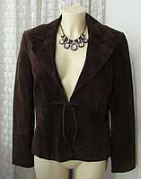 Пиджак жакет женский модный демисезонный натуральная кожа замша бренд Papaya р.46 5990