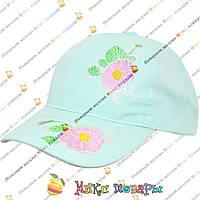 Нежные детские кепки с вышитыми цветами (Размер 50- 52 см) (vti112)