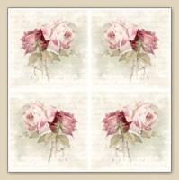 """Салфетки для декупажа """"Розы на письме четыре"""" 33*33 см"""