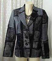 Пиджак женский модный стильный демисезонный бренд Vogue р.46 5992а