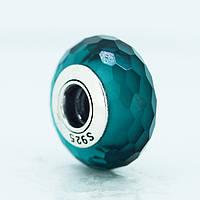 Pandora шарм S 925 ALE ограненная бирюзового цвета