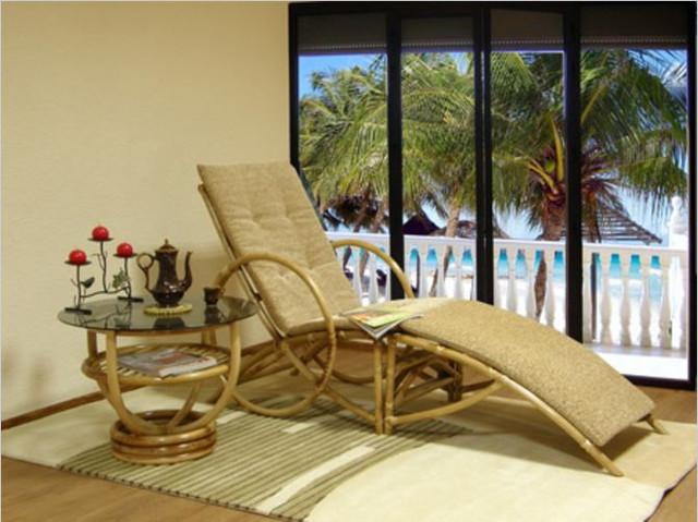 Кресло из ротанга Майами в интерьере