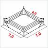 Боксерский ринг напольный тренировочный, ковер 7х7 канаты 6х6