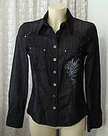 Рубашка женская джинсовая жакет натуральный хлопок бренд Bonita р.42-44 5993, фото 1