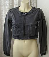 Куртка жіноча легка сіра болеро щільний бавовна бренд ICHI р. 42-44 5994, фото 1