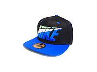 Кепка реперка Nike (Black & Blue)