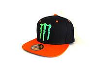 Кепка реперка Monster Energy (Black & Orange)