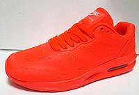 Женские кроссовки неоновые Nike Air Max оранжевые NI0024