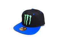 Кепка реперка Monster Energy (Black & Blue)