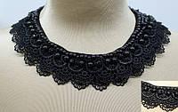 Декор арт.022/ 6-воротник ткан черный.