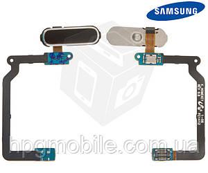 Шлейф для Samsung Galaxy S5 G900F, G900H, черный, кнопки меню, с компонентами, оригинал