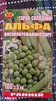 """Семена гороха """"Альфа"""" ТМ VIA-плюс, Польша (упаковка 10 пачек по 100 г)"""