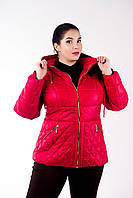 Куртка женская №27 красный р. 46-54