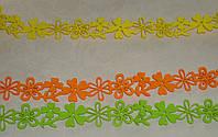 Лента-бордюр флизелин салатовая\оранжевая 4*180 см