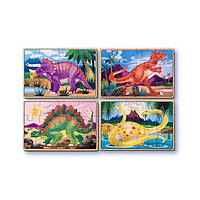 Набор из 4 пазлов Динозавры