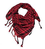 Платок-арафатка Куфия с кистями  АR-036 красный
