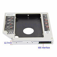 Optibay 12.7 мм переходник CD-DVD-ROM PATA IDE на SECOND HDD 2,5'' SATA caddy оптибэй, фото 1
