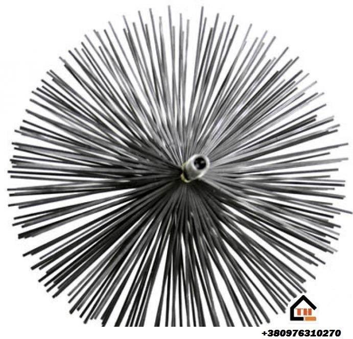 Щётка металлическая с резьбой для чистки дымаря  500 мм