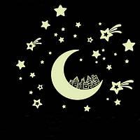 Светящиеся звезды с месяцем 36 штук