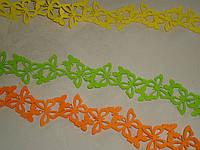Лента-бордюр флизелин салатовая\оранжевая\желтая 5,5*180 см