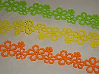 Лента-бордюр флизелин салатовая\оранжевая\желтая 5,5*190 см