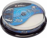 Диск BD-R EMTEC 50 GB Double Layer 6x Inkjet Printable white cake box 10