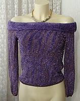 Джемпер женский красивый нарядный блестящая травка р.44-46 5999 от Chek-Anka