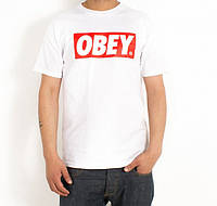 Мужская футболка Obey белого цвета