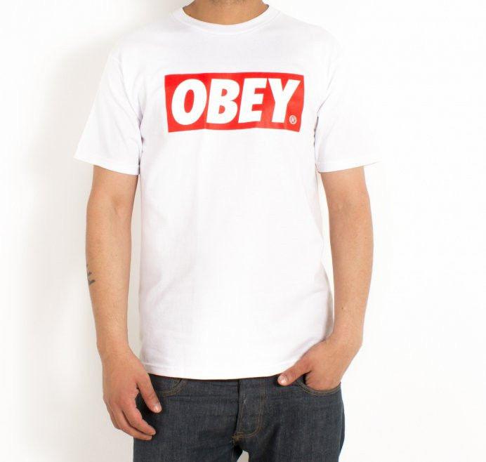 Мужская футболка Obey белого цвета - Интернет магазин обуви «im-РоLLi» в Киеве