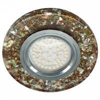 Врезной Led светильник Feron (G5.3) мерцающий-коричневый-серебро