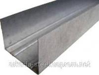 (УСИЛЕННЫЙ!) Профиль для гипсокартонных конструкций UW-50 (УВ-50) 4 м.п. толщина 0,55мм