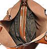 Женская кожаная сумка 811 рыжая, фото 4