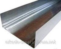 (ПРОМЫШЛЕННЫЙ вариант) Профиль стеновой направляющий UW-75 (УВ-75) 3 м.п. толщина 0,65мм