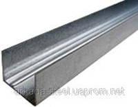 Профиль для гипсокартонных конструкций UDполегш. (UD-18) 4 м.п. - Оцинкованный, толщина 0,36