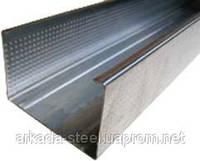 (ПРОМЫШЛЕННЫЙ) Профиль для гипсокартонных конструкций CW-75 (ЦВ-75) 3 м.п. толщина 0,65мм