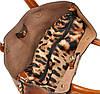 Женская кожаная сумка 8010 рыжая, фото 6