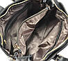 Женская кожаная сумка 2015-12 черная, фото 5