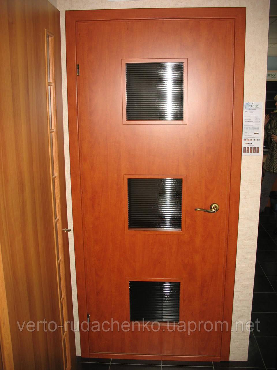 Двери Verto Геометрия 3.3 цвет Орех темный «Verto-CELL»
