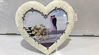 Подарок фоторамка элитное сердце Swarovski, фото 1