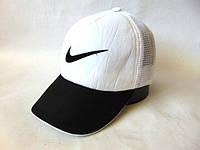 Бейсболка Nike сетка (White & Black)