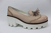 Кожаные модные розовые туфли ТМ Max Mayar